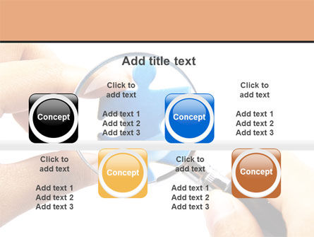Jigsaw Close-Up PowerPoint Template Slide 18