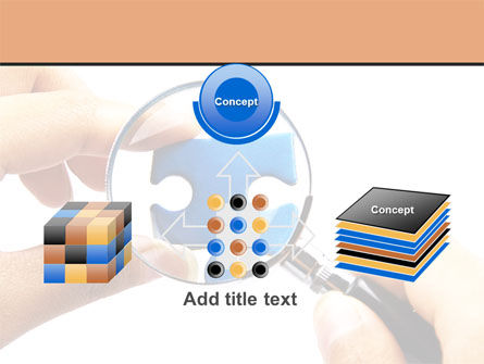 Jigsaw Close-Up PowerPoint Template Slide 19