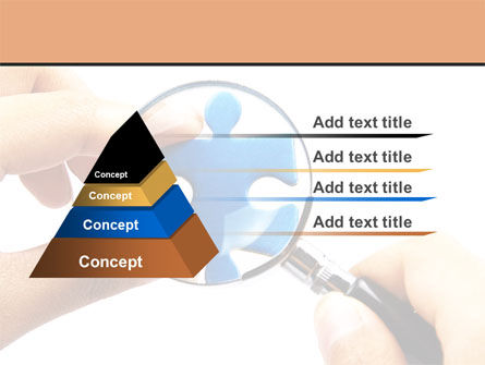 Jigsaw Close-Up PowerPoint Template Slide 4