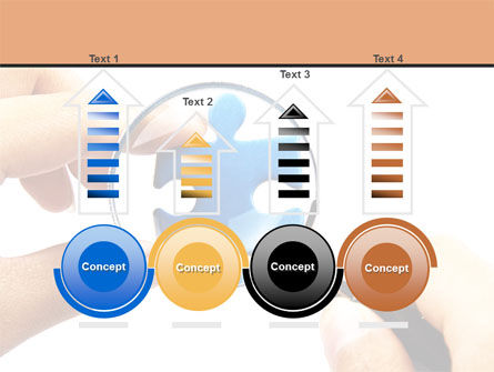 Jigsaw Close-Up PowerPoint Template Slide 7