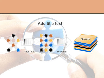 Jigsaw Close-Up PowerPoint Template Slide 9