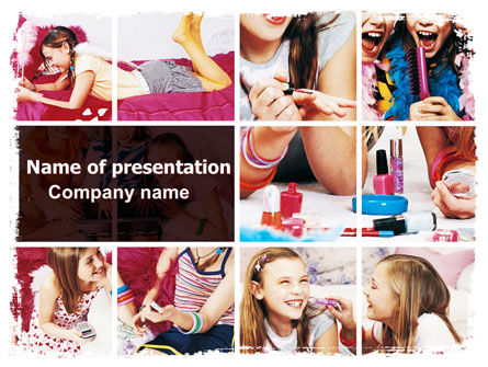 Pajama Party PowerPoint Template, 06341, People — PoweredTemplate.com