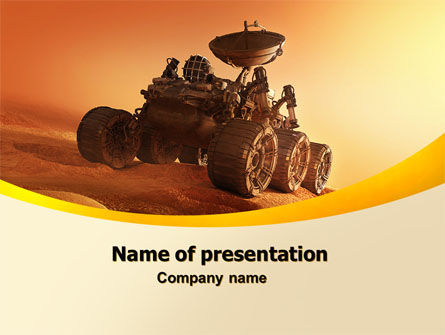 Mars Rover PowerPoint Template, 06342, Technology and Science — PoweredTemplate.com