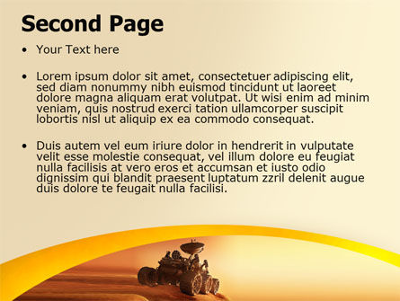 Mars Rover PowerPoint Template, Slide 2, 06342, Technology and Science — PoweredTemplate.com