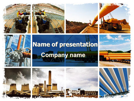 Pipeline PowerPoint Template, 06343, Utilities/Industrial — PoweredTemplate.com