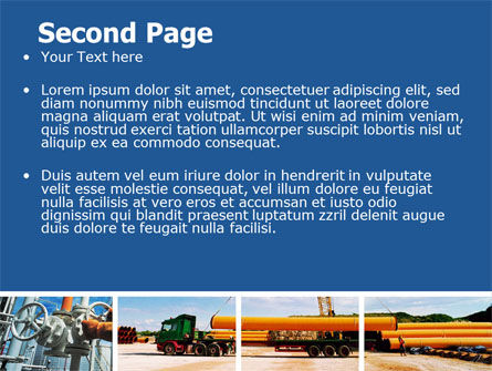 Pipeline PowerPoint Template, Slide 2, 06343, Utilities/Industrial — PoweredTemplate.com