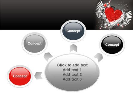 Flying Heart PowerPoint Template Slide 7