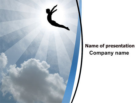 Freedom Jump PowerPoint Template, 06347, Business Concepts — PoweredTemplate.com