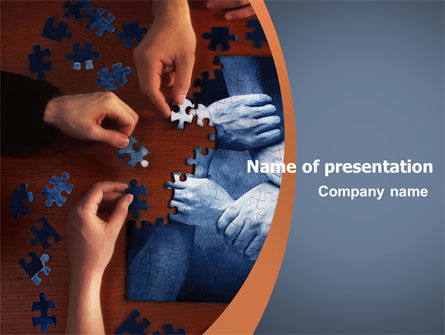 Team building puzzle brochure template design and layout for Team building powerpoint presentation templates
