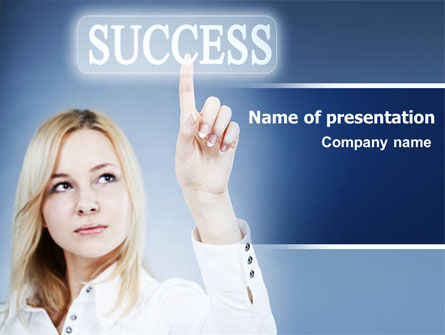 Reaching for Success PowerPoint Template, 06351, Business Concepts — PoweredTemplate.com