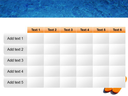 Slippers On A Pool Skirting PowerPoint Template Slide 15