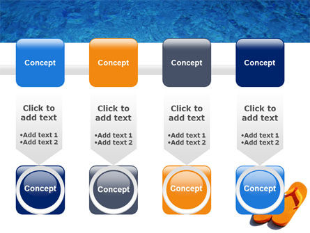 Slippers On A Pool Skirting PowerPoint Template Slide 18