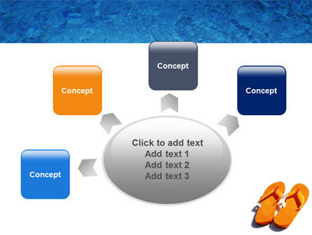 Slippers On A Pool Skirting PowerPoint Template Slide 7