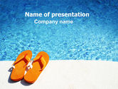 Careers/Industry: Slippers On A Pool Skirting PowerPoint Template #06352