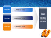 Slippers On A Pool Skirting PowerPoint Template#12