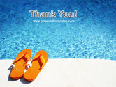 Slippers On A Pool Skirting PowerPoint Template#20