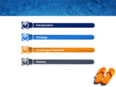 Slippers On A Pool Skirting PowerPoint Template#3