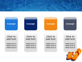 Slippers On A Pool Skirting PowerPoint Template#5