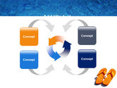 Slippers On A Pool Skirting PowerPoint Template#6