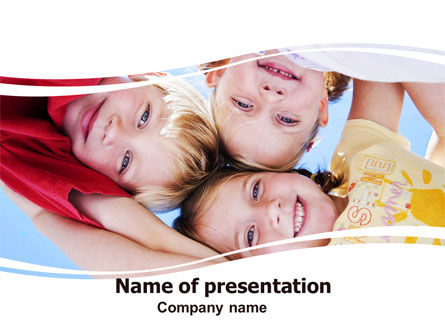 Kids Smiling Faces PowerPoint Template