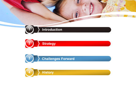 Kids Smiling Faces PowerPoint Template, Slide 3, 06353, Education & Training — PoweredTemplate.com