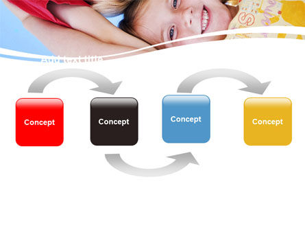 Kids Smiling Faces PowerPoint Template, Slide 4, 06353, Education & Training — PoweredTemplate.com