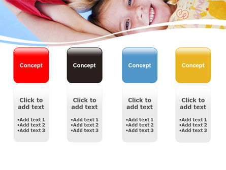 Kids Smiling Faces PowerPoint Template Slide 5