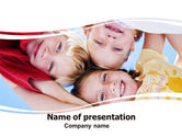 Education & Training: Kids Smiling Faces PowerPoint Template #06353