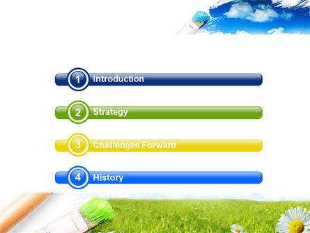 Painting Summer PowerPoint Template, Slide 3, 06354, Nature & Environment — PoweredTemplate.com