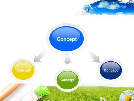 Painting Summer PowerPoint Template, Slide 4, 06354, Nature & Environment — PoweredTemplate.com