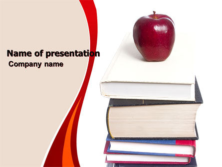 Book Knowledge PowerPoint Template, 06355, Education & Training — PoweredTemplate.com