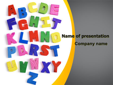 Childish Alphabet PowerPoint Template, 06356, Education & Training — PoweredTemplate.com