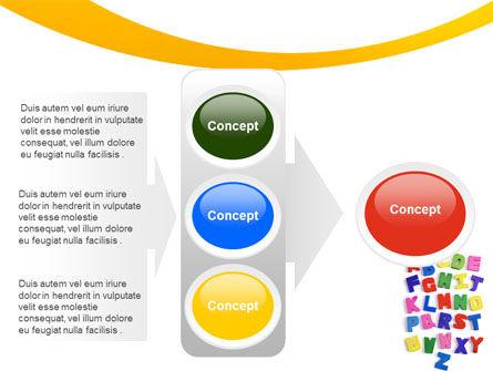 Childish Alphabet PowerPoint Template Slide 11