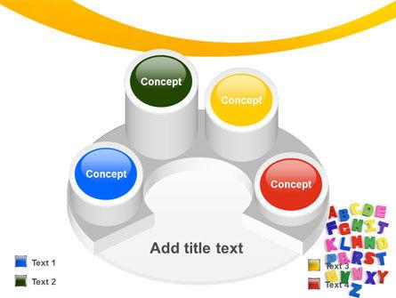 Childish Alphabet PowerPoint Template Slide 12