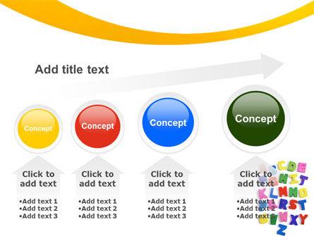 Childish Alphabet PowerPoint Template Slide 13