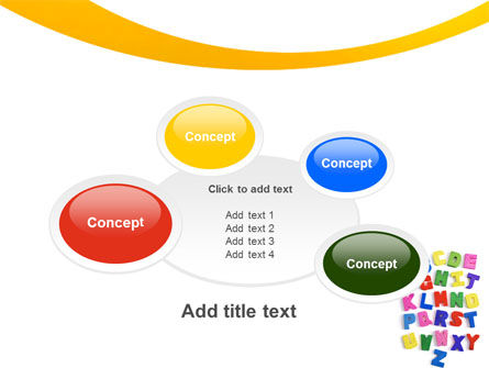 Childish Alphabet PowerPoint Template Slide 16