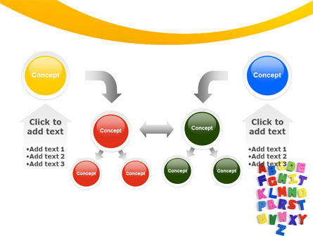 Childish Alphabet PowerPoint Template Slide 19
