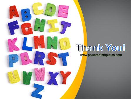 Childish Alphabet PowerPoint Template Slide 20