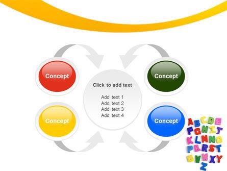 Childish Alphabet PowerPoint Template Slide 6