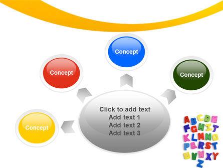Childish Alphabet PowerPoint Template Slide 7