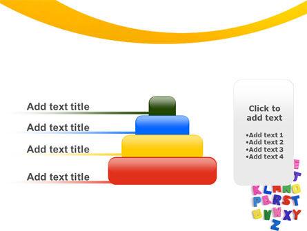 Childish Alphabet PowerPoint Template Slide 8