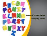 Education & Training: Childish Alphabet PowerPoint Template #06356