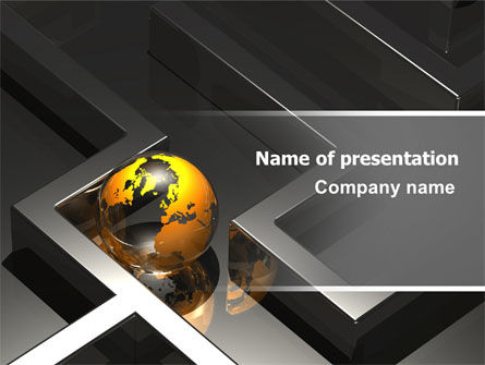 Consulting: Earth in Labyrinth PowerPoint Template #06357