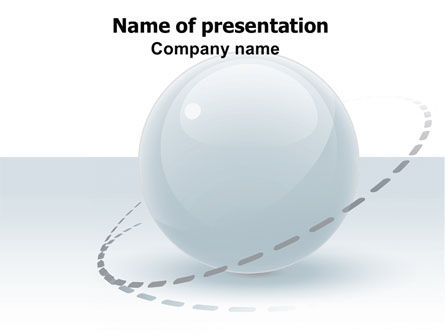 Abstract/Textures: Clean Sphere PowerPoint Template #06360