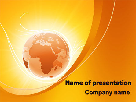 Global: Yellow Earth Theme PowerPoint Template #06361