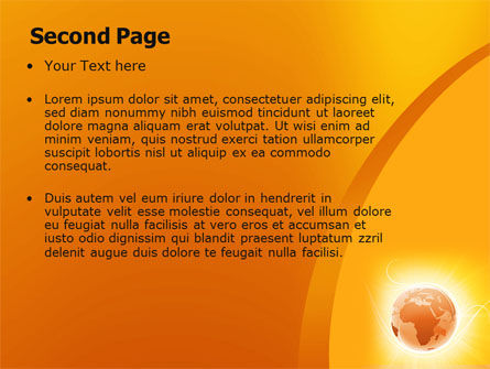 Yellow Earth Theme PowerPoint Template Slide 2