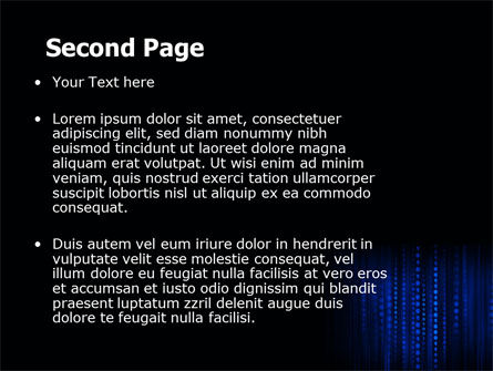 Blue Binary Code PowerPoint Template, Slide 2, 06362, Technology and Science — PoweredTemplate.com