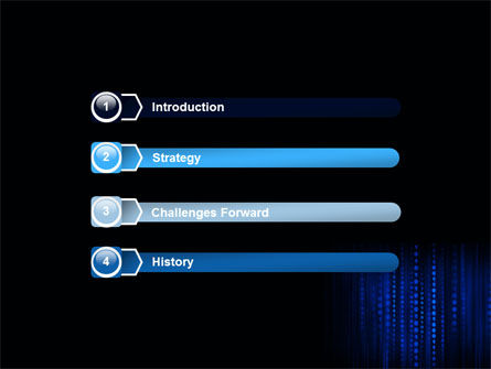 Blue Binary Code PowerPoint Template, Slide 3, 06362, Technology and Science — PoweredTemplate.com