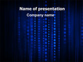 Technology and Science: Blue Binary Code PowerPoint Template #06362