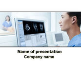 Medical: Tomography Research PowerPoint Template #06364